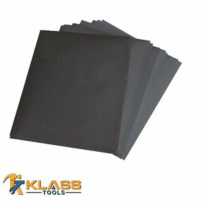 9 In X 11 In Premium Wet Dry Sandpaper Sanding Sheets Grit 80 To 2000