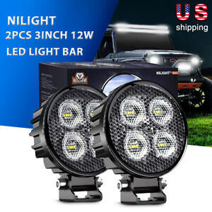 2pcs 54w White Amber Led Light Bar Truck Work Driving Flood Beam Lamps Offroad