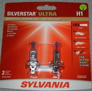Sylvania Silverstar Ultra H1 Dual Pack Bulbs Brand New And Sealed