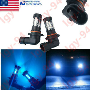 For 2010 2013 Mazda 3 Ice Blue Xenon Ice Blue Projector Lens Led Fog Light Bulbs