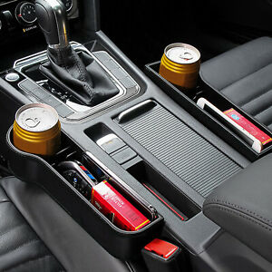 Car Seat Crevice Cup Drink Storage Box Holder Organizers Auto Gap Pocket Stowing