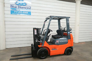 2006 Toyota 7fgcu20 4 000 Cushion Tire Forklift Sideshift Lp Gas