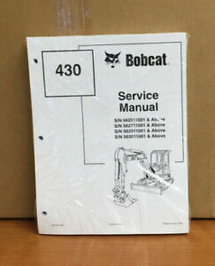 Bobcat 430 Compact Excavator Service Manual Shop Repair Book Pn 6902318