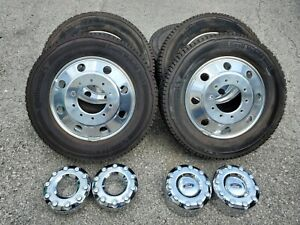 19 5 Ford F 450 Dually Wheels Tires F 550 2018 2019 Polished Rims 4500 Oem New