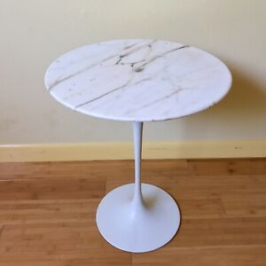 Eero Saarinen Tulip Side Table Marble Top Early Knoll Production
