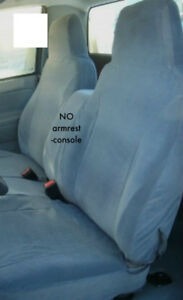 Chevy Colorado 2004 12 Seat Covers Front 60 40 Without Armrest console Charcoal