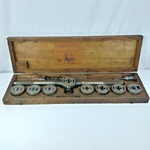 Russell Mfg Co Greenfield Mass Tap Die Set W Original Box Missing 2 Taps