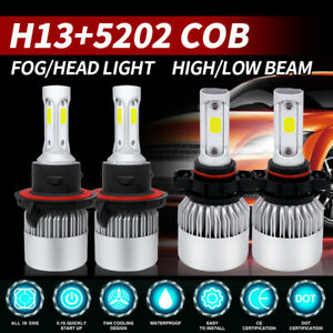 4x Combo H13 9008 Led Headlight 5202 Fog Light Bulb For 2008 2012 Ford Escape