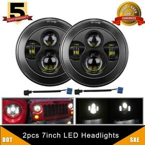 Dot 7 Inch Round Led Headlight Sealed H4 H13 Hi low Beam For Ford Mustang 65 78