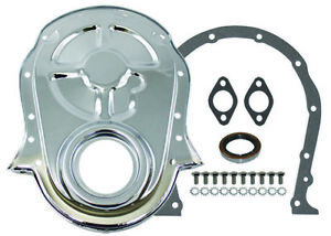 Bb Chevy Chrome Steel Timing Cover Kit W Gaskets Bolts 396 427 454 Bbc