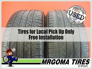 2 Michelin Latitude Tour Hp Dt Zp Rft 255 55 18 Used Tires 63 5 Left 2555518