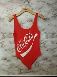 Coca Cola Womens Bodysuit Size XL Red Sexy Tank NWOT #N