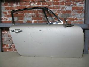Porsche 911 912 Right Door With Glass Chrome Frame Hinges 1965 1967