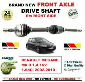 For Renault Megane Ii 1 4 16v 1 5dci 2002 2010 New Front Axle Right Driveshaft