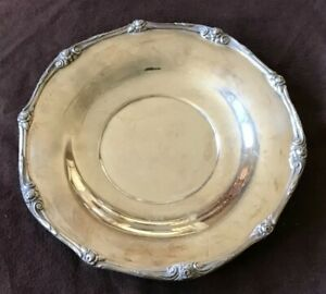 1881 Wm A Rogers Silver Plated On Brass Ornate Glenrose Serving Plate Tray