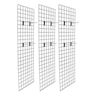Hangers 2 X 6 Grid Wall Panel Floorstanding Display Fixture 3 Pack W 18 Hooks