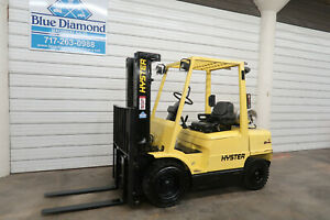 Hyster H60xm 6 000 Pneumatic Forklift Lp Gas Three Stage Mast Nissan Toyota