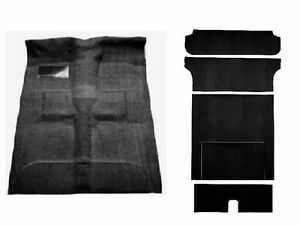 Acc 55 57 Chevy Nomad 2 door Wagon Black Molded Complete Carpet Rug Front Rear