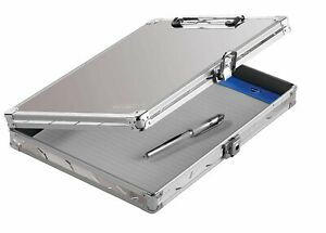 Vaultz Locking Clipboard With Storage For Letter Size Sheets 12 5 X 10 5 X