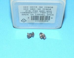 Iscar Idi 0315 Sk Ic908 Carbide Drill Tip Inserts 0 315 8mm 2 Pieces