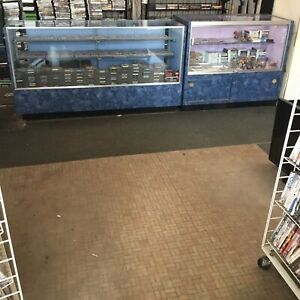 4 Matching Glass Display Cases Retail Commercial