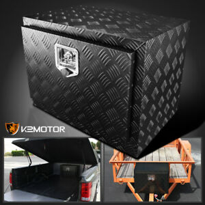 24 Heavy Duty Black Aluminum Tool Box Truck Underbody Trunk Bed Trailer Storage