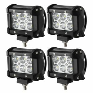 4x Pods 18w Led Spot Beam Cube Cree Fog Work Lights Pods Off Road Suv Dually