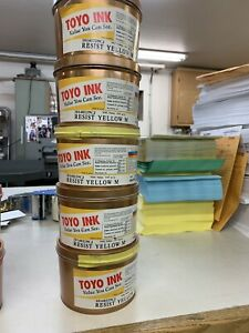 Toyo Aqualess Magenta Or Yellow Offset Letterpress Sheet Fed Ink 1kg 2 2lb