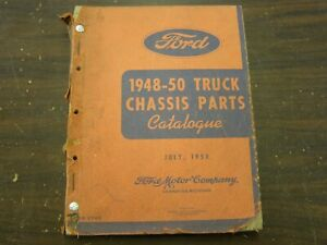 Oem Ford 1948 1949 1950 Truck Pickup Master Parts Book Chassis Catalog