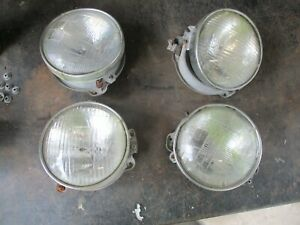 64 Belvedere Fury Savoy Satellite Headlight Mount Buckets W Trim Ring Bezels