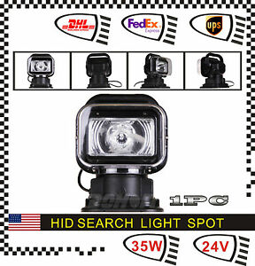 35w 24v Dc Spot Hid Xenon Search Work Light Remote Control 360 Magnetic Boat