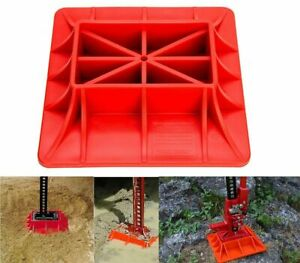 Abs Hi Lift Jack Off Road Base Lifting Support Surface Pad Hoisting Sinkage Red