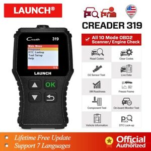 2020 New Launch Cr319 Obd2 Can Scanner Obdii Eobd Code Reader Engine Check Light