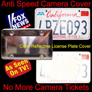 2 Covers 30 Anti Speed Camera Red Light Camera Photo Blocker License Plate