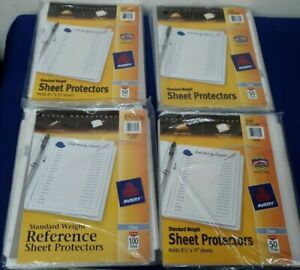 New Lot Of 238 Avery Standard Weight Sheet Protectors Top Load Unused