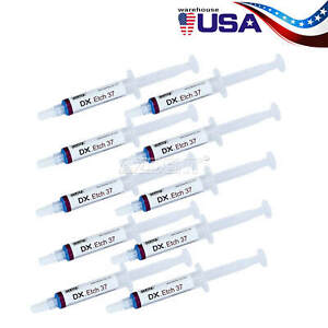 20x Dentex Dental Acid Etching Gel 37 Phosphoric Syringe For Dentin