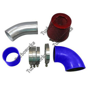 3 5 Universal Na Cold Air Intake Pipe Kit For Gm Ls1 Lsx Lmx Lqx Motor