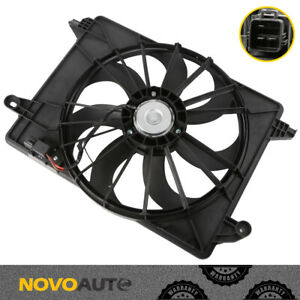 Radiator Cooling Fan W motor For 09 18 Dodge Challenger 11 17 Chrysler 300 Black