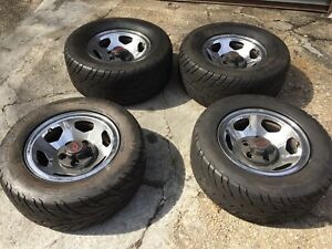 Set Of 4 454 Ss Chevy Pickup Truck Chrome Wheels Tires And Center Caps