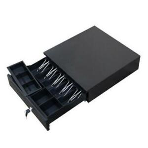 16 Cash Box With Money Tray Lock Large Steel 5 Compartment Key Black Tiered Us