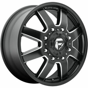 Set Of 4 Dually 24x8 25 Fuel Maverick Black 8x210 105 221 Hub 154 30 Wheels