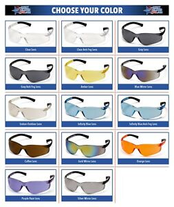 Pyramex Ztek Safety Glasses Work Eyewear Choose Your Lens Color Ansi Z87