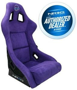 New Nrg Alcantara Bucket Seat prisma Edition Side Mounts Frp 302pp prisma