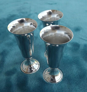 Sterling Silver Cordials By International Silver Co Six Total 3 X1 1 4