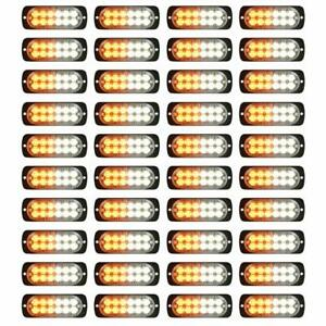 Flash Amber 12 Led Car Truck Emergency Beacon Warning Hazard Strobe Light Barsx4