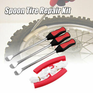 Motorcycle Tire Change Spoon Lever Tool Iron Kit 5pack Rim Protector Touring