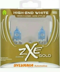Sylvania Silverstar 9005 Zxe Gold Xenon Fueled Dual Pack New sealed Awesome