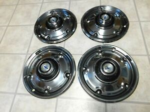 1969 1972 Chevy Hubcaps 1 2 Ton Pickup Truck 69 70 71 72 Chevrolet Nice