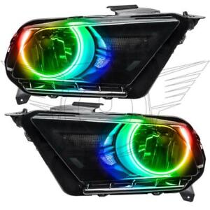 Oracle 10 14 Ford Mustang Pre Assembled Rgb Halo Headlights Non Hid Colorshift