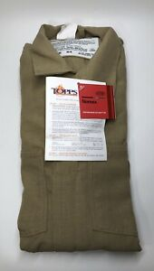 Topps 4 5 Oz Nomex Iiia Flame Resistant Coverall Hrc 1 4 6 Cal 40r Tan